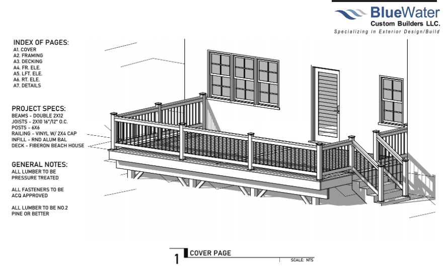 Project Specification for new deck